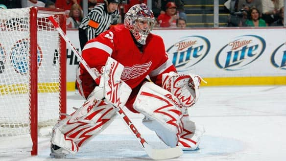 Detroit Red Wings goalie Ty Conklin has played in the NHL's previous two outdoor games.