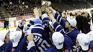 The Toronto Marlboros won the OHL Showcase Cup Sunday at the Hershey Centre in Mississauga, Ont.