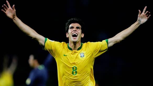 Kaká comemora gol marcado
