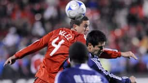 Marco Velez, top, was released by Toronto FC on Thursday.