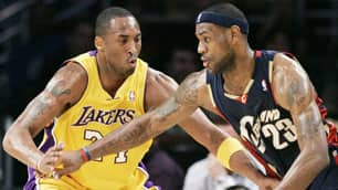 LeBron James, right, and Kobe Bryant were picked to repeat their accomplishments of last season in a survey of NBA general managers.