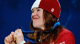 Clara Hughes is donating her bronze-medal bonus to help children in Vancouver's Downtown Eastside. After winning gold in 2006, she donated $10,000 to Right to Play.