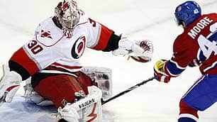 Ward Plays Spoiler Against Canadiens
