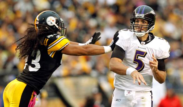 Ravens Win in Pittsburgh for First Time in John Harbaugh era thanks to Joe Flacco's Arm and Jeff Reed's Bad Leg