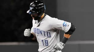Toronto slugger Jose Bautista led the majors with 54 home runs this year.
