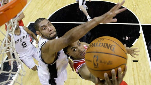 Chicago Bulls' Derrick Rose, right, found out Wednesday night why the Tim ...