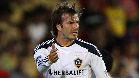 Los Angeles Galaxy midfielder David Beckham (23) reportedly is the apple of