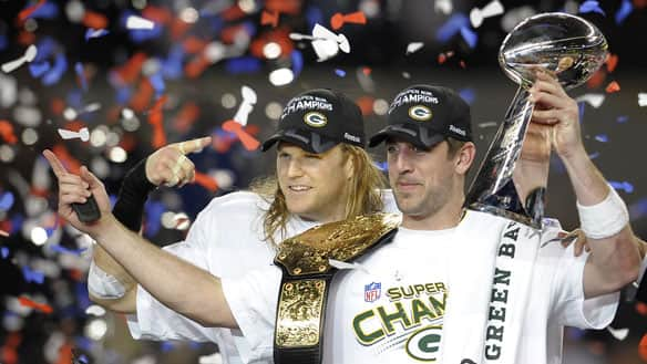 Super Bowl XLV set a new American viewership record as 111 million people watched Aaron Rodgers and the Green Bay Packers defeat the Pittsburgh Steelers.