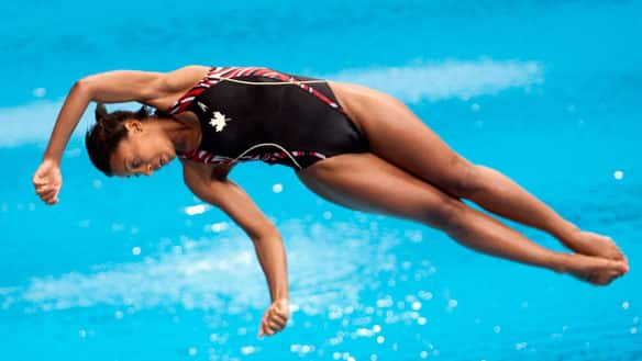 Jennifer Abel wins diving silver medal at 2013 FINA/Midea Diving World Series