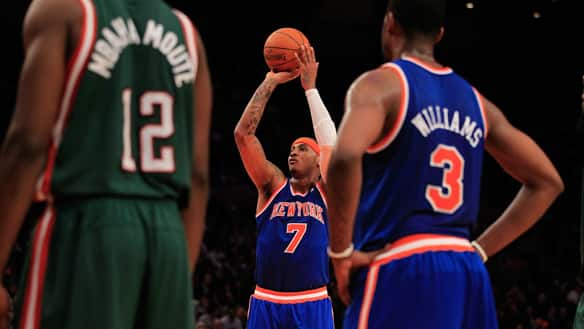 carmelo anthony knicks debut. Carmelo Anthony#39;s debut on the