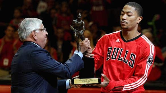 Derrick Rose Received the MVP on Wednesday