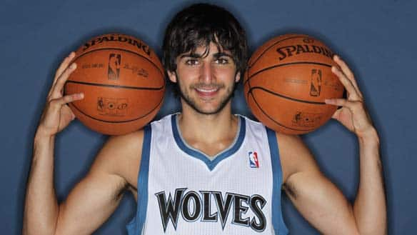Ricky Rubio of the Minnesota Timberwolves poses for portraits on June 21, 2011 at Target Center in Minneapolis, Minnesota.