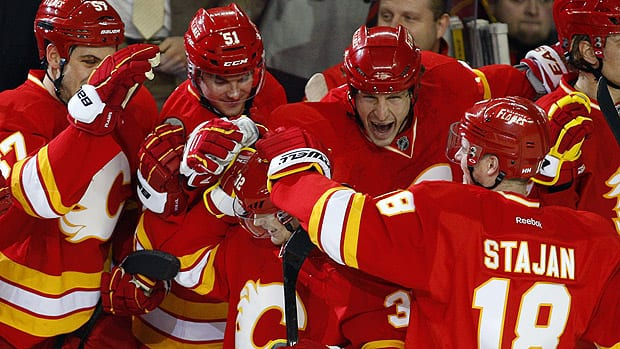 Flames Pounce On Leafs' Mistakes
