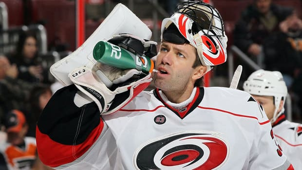 A groin injury last season limited him Carolina Hurricanes goalie Brian Boucher to just eight starts and 10 total appearances.