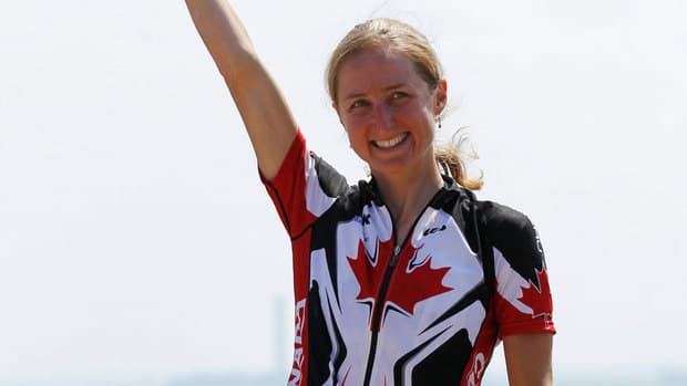Mountain biker Catharine Pendrel was the Cinderella story of our flag bearer tournament.