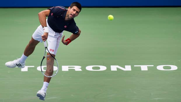 Novak Djokovic will battle fellow Serbian Janko Tipsarevic in their semifinal match Saturday for a spot in the Rogers Cup final in Toronto.