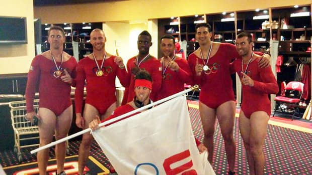 Washington Nationals rookies are dressed as Olympians. Their teammates weren't the only ones having fun today as many NHL teams held their annual golf tournaments.
