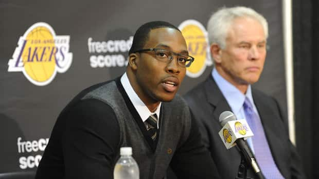 Dwight Howard was acquired from Orlando in a four-team trade.