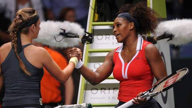 Serena Williams, right, won her semifinal match at the WTA championship in Istanbul, Turkey on Saturday.