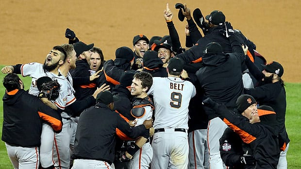 Sergio Romo, left, closed out the Detroit Tigers to help the San Francisco Giants celebrate another World Series championship.