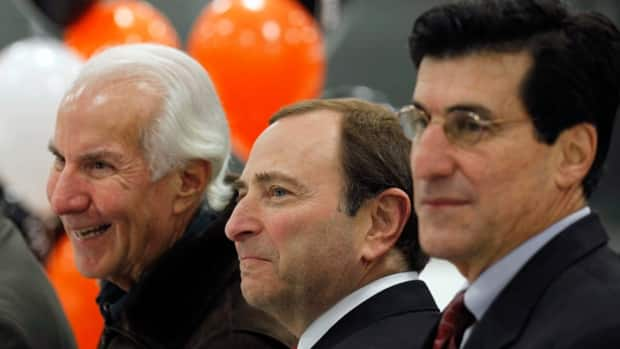 Philadelphia Flyers owner Ed Snider, left, says he's 'awfully disappointed' with the current state of the NHL's labour situation.