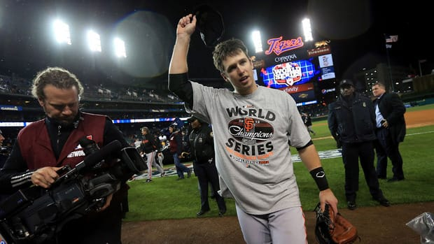 San Francisco Gaints catcher Buster Posey could add the MVP award to his World Series ring.