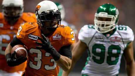 CFL West final features Canadian running backs Cornish, Harris