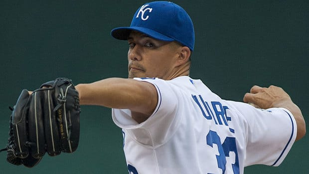 Following a trade from Colorado last season, Jeremy Guthrie posted a 5-3 record and 3.16 ERA in 14 starts in Kansas City, including a 4-0, 2.17 ERA mark over his final 11 outings.