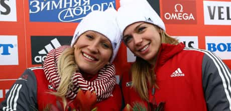 Canada's Kaillie Humphries, left, and teammate Chelsea Valois are enjoying one of the greatest World Cup bobsled seasons ever on the women's circuit.