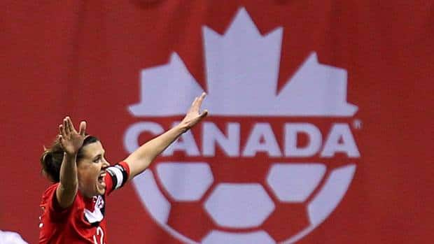 Canada's Christine Sinclair celebrates her goal against Mexico in Olympic qualifying last January. It was the beginning of a dynamic year for the world class star.