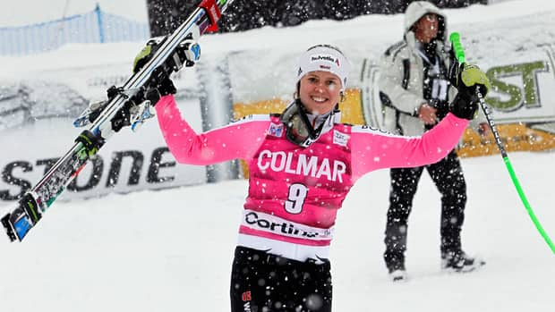 Viktoria Rebensburg of Germany takes 1st place competes during the Audi FIS Alpine Ski World Cup Women's SuperG on January 20, 2013 in Cortina d'Ampezzo, Italy. (Photo by Christophe Pallot/Agence Zoom/Getty Images)