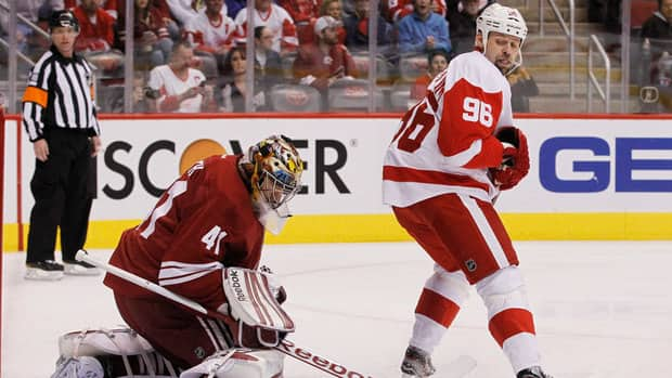 Detroit Red Wings forward Tomas Holmstrom made a career for himself screening opposing goaltenders.