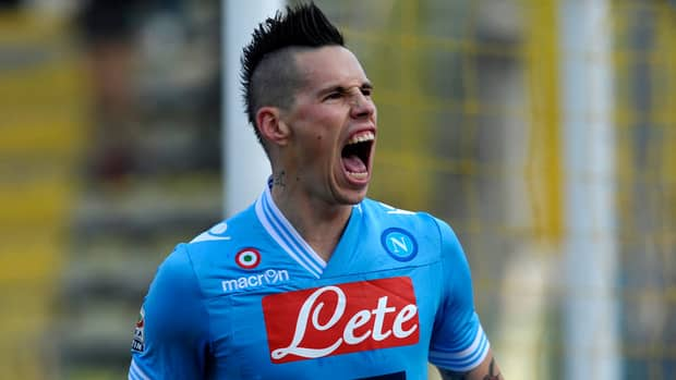 Napoli's Marek Hamsik put Napoli ahead 20 minutes in at the Ennio Tardini stadium, using one touch to redirect a teammate's pass.