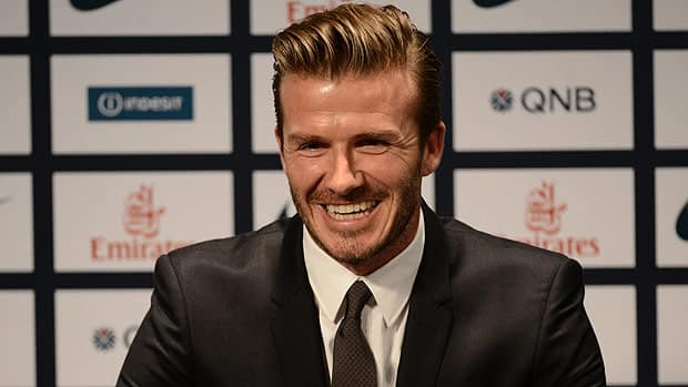 Former England captain David Beckham, seen at the Parc des Princes stadium on Thursday, is back in Europe after several seasons in the MLS.