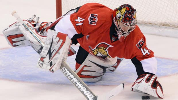 Ottawa Senators goalie Craig Anderson boasts a .967 save percentage.