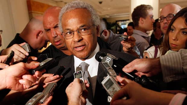 Billy Hunter, shown speaking to reporters in 2011, recently fired family members working for the association.