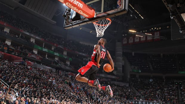 Terrence Ross of the Toronto Raptors won this year's slam dunk competition during NBA All-Star Weekend on Saturday.