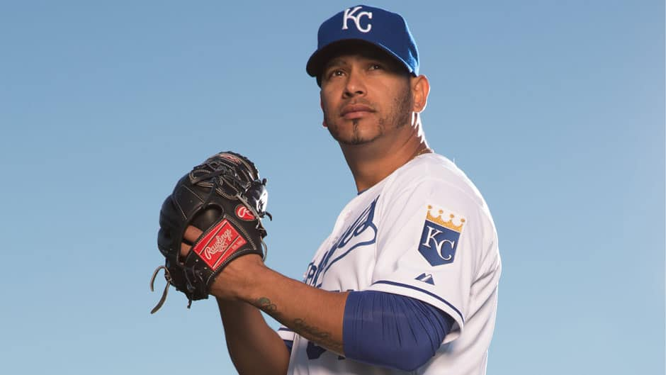 Right-hander Guillermo Moscoso pitched in 3 games this spring for the Kansas city Royals