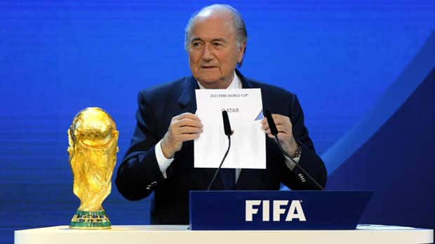 Sepp Blatter, seen revealing Qatar as the choice at the 2010 ceremony, would like the tournament held during cooler months.