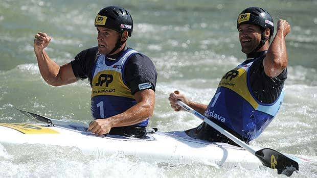 Peter and Pavol Hochschorner of Slovakia are looking to win an unprecedented fourth consecutive Olympic title in whitewater slalom.