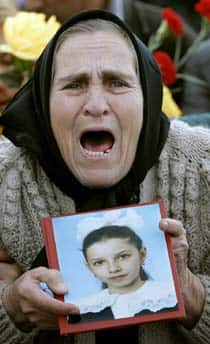 Funeral in Beslan, Sept., 2004. (AP file photo)