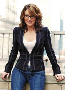 Comedian Tina Fey, head writer for ...