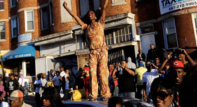 The National - Baltimore rally celebrates charges in Freddie Gray death