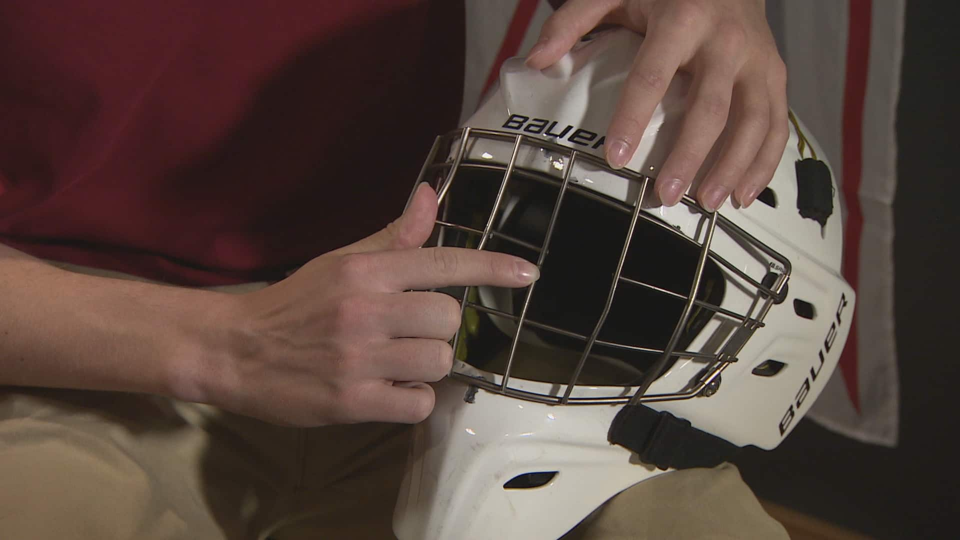 The National - Helmet failure threatens young goalie's sight