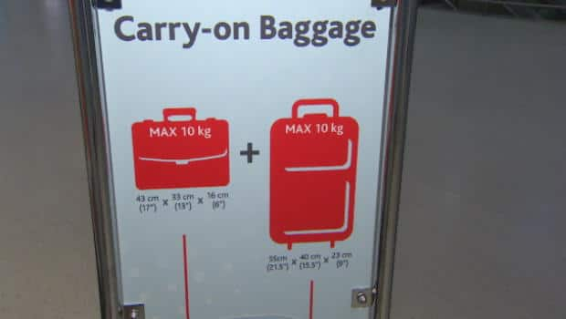 Cabin Baggage Allowance Air India Bagaglio A Mano