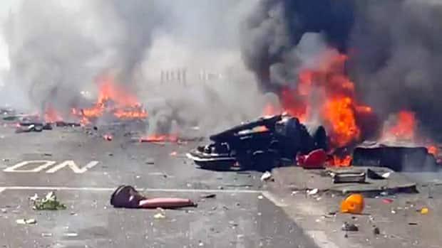 Plane crash photos graphic warning graphic video ground zero at