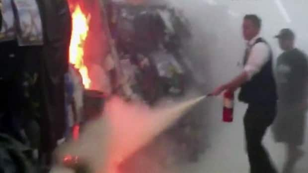 World - RAW: Walmart Halloween section up in flames