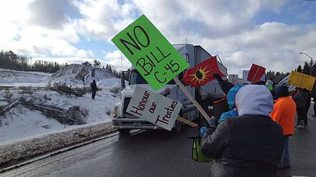 Aboriginal - Protest At Nipigon