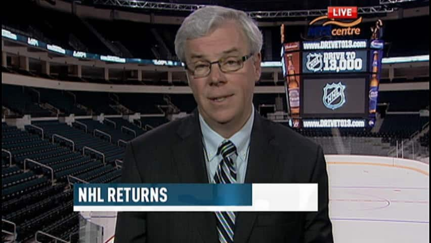 Manitoba Premier Greg Selinger has been busy with flood recovery efforts, but now he gets a day off to celebrate hockey's return to Winnipeg