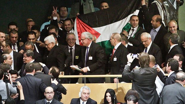 A big majority of countries voted in favour of the Palestinian Authority's bid to have its status in the UN upgraded to state recognition